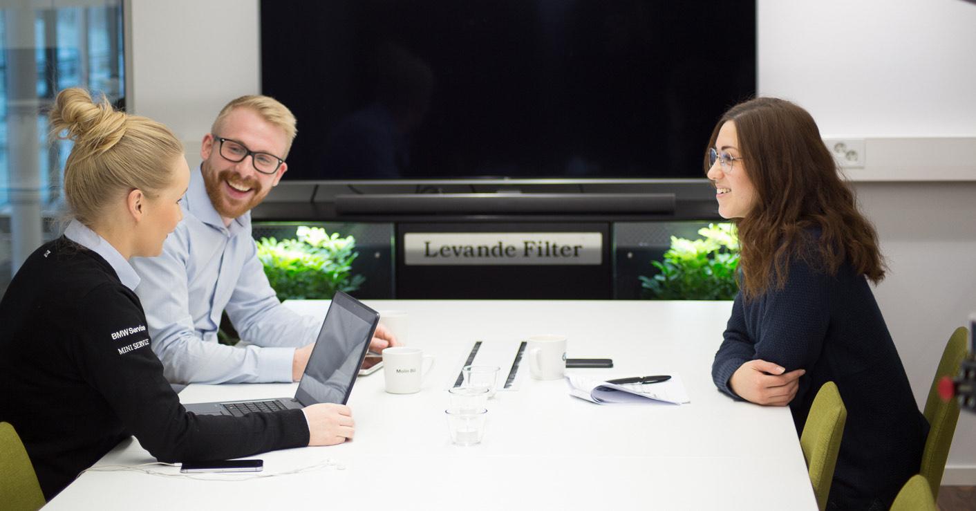 Mindre damm hos BMW återförsäljare i Sundsvall med Levande Filter