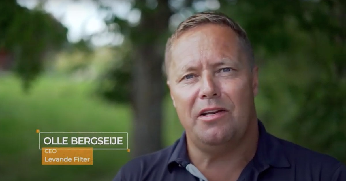 Olle Bergseije intervjuas av CNBS International